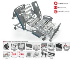 Elektrinė reanimacinė funkcinė lova FBET-ICU, F8 - ratukas su krypties užraktu