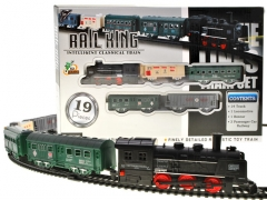Elektrinis lokomotyvas su automobiliais Geležinkelis vaikams