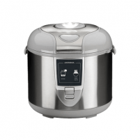 Elektrinis puodas Gastroback Mechanical Rice Cooker 42518 Silver, 700 W, Functions Suitable for cooking rice, vegetables, slurries, also suitable for keeping food temperature, such as soups, Elektriniai puodai