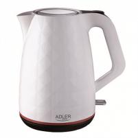 Electric kettle Adler Kettle AD 1277 Standard, Plastic, White, 2200 W, 360° rotational base, 1.7 L