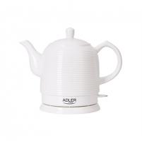 Electric kettle Adler Kettle AD 1280 Standard, Ceramic, White, 1500 W, 360° rotational base, 1.2 L