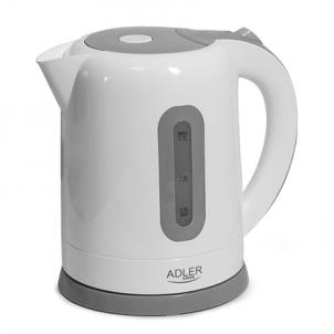 Electric kettle Adler Kettles AD 1234 Standard kettle, Plastic, White, 2200 W, 1.7 L, 360° rotational base