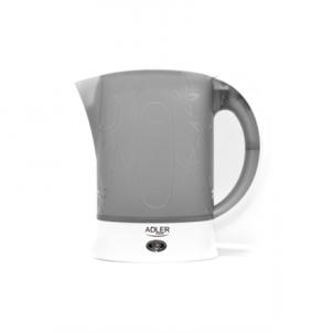 Electric kettle Adler Travel Kettle AD 1268 Standard, Plastic, White, 600 W, 0.6 L Electric kettles