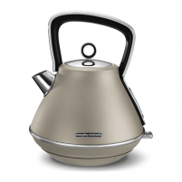 Elektrinis virdulys Morphy richards Kettle 100102 Standard, Stainless steel, Platinum, 3000 W, 360° rotational base, 1.5 L