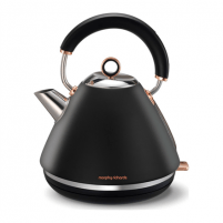 Elektrinis virdulys Morphy richards Rose Gold 102104 Standard kettle, Stainless steel, Black, 3000 W, 1.5 L, 360° rotational base