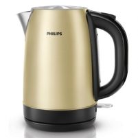 Elektrinis virdulys PHILIPS HD9324/50 Kettle Cordless, 1.7 L, 2200W, 360 Degree, Champagne metal