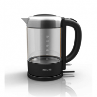 Electric kettle Philips Kettle Avance Collection HD9340/90 Standard, 2200 W, 1.5 L, Glass, Black, 360° rotational base