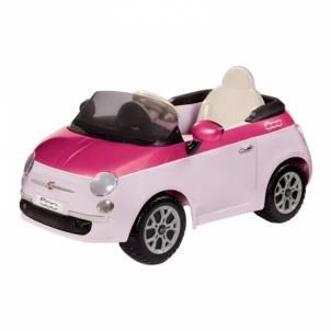 Elektromobilis Fiat 500 Pink/Fucsia W/Remote Control (6V) Automobiliai vaikams