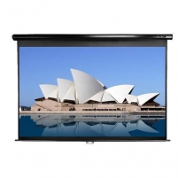 Elite Screens M100UWH Manual Pull Down Screen 100'' 16:9 / Diagonal 250cm, W 221cm x H 124.5cm / Black case Projectors
