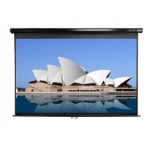 Elite Screens M150UWH2 Manual Pull Down Screen 150'' 16:9 / Diagonal 375cm, W 332cm x H 186,7cm / Black case Projektoriai