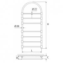 Elonika žalvarinis vandeninis gyvatukas EŽRA 750 su arka