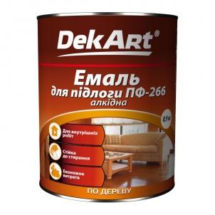 Emalis grindims PF-266 DekART geltonai-rudas 0,9 kg Grindų dažai