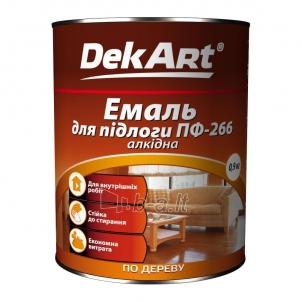Emalis grindims PF-266 DekART raudonai-rudas 2,8 kg Grindų dažai