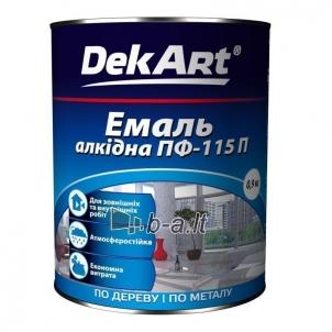 Enamel PF-115P DekART yellow 0,9 kg
