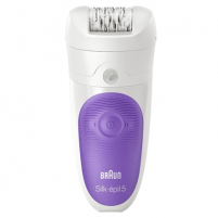Epiliatorius Braun Epilators Silk-épil 5 5-541 Number of speeds 2, Number of intensity levels 2, Operating time 40 min, White/lila Epiliatoriai