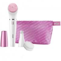 Epiliatorius Braun Face Epilator and facial cleansing brush SE832S Number of intensity levels 1, White/ pink