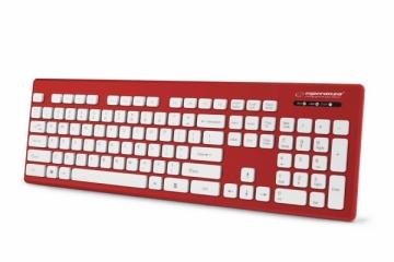 Esperanza EK130R Laidinė, vandeniui atspari USB klaviatūra - SINGAPORE