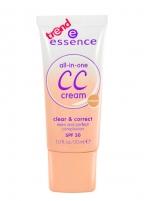 Essence CC Cream SPF 30 Cosmetic 30ml 10 Natural Maskuojamosios priemonės veidui
