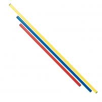 Estafečių lazda 120cm Ø 25 red Lengvosios atletikos priedai