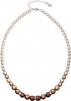 Evolution Group karoliai su perlais 32005.3 brown