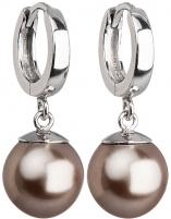 Evolution Group sidabriniai earrings with perlu 31151.3 bronze