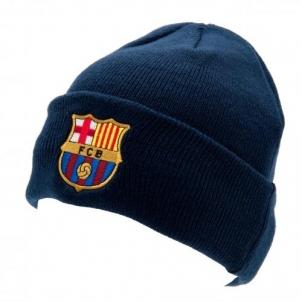F.C. Barcelona atlenkta žieminė kepurė (Mėlyna) Sirgalių atributika