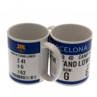 F.C. Barcelona puodelis (Baltas su logotipu)