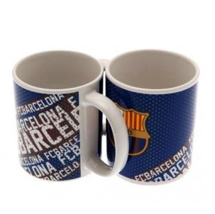 F.C. Barcelona puodelis (Mėlynas su logotipais)