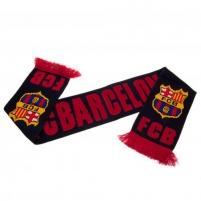 F.C. Barcelona šalikas (Juodas su raudonu užrašu)