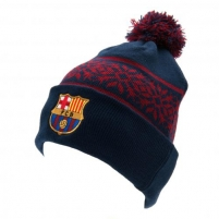 F.C. Barcelona žieminė kepurė su bumbulu