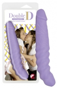 Double D Soft Dong purple Realistic phallus simulators