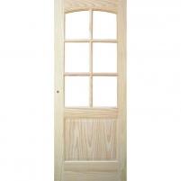 Finierētas durvis vērtne MALAGA CKRISTAL 71x203 cm, priede