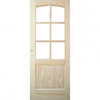 Foiled door leaves MALAGA CKRISTAL 91x203 cm, pine