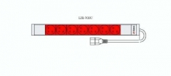 Fideltronik maitinimo filtras, 7 lizdų, rack 19, 1U, kištukas IEC320