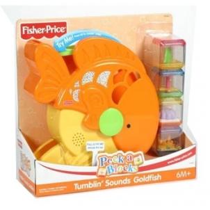 Fisher-Price H7062 Tumblin' Sounds Goldfish Žaislai kūdikiams