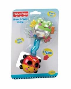 Fisher Price N2863 SHAKE TWIST RATTLE Žaislai kūdikiams