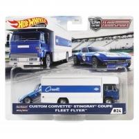 FLF56 / GJT41 Mattel Hot Wheels Car Culture Team Transport Custom Corvette Stingray Coupe Fleet Flye