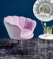 Fotelis AMORINO šviesiai rožinė Foteliai ir pufai