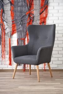Fotelis COTTO tamsiai pilka