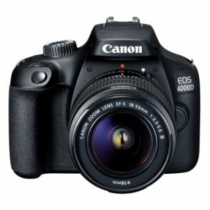 Fotoaparatas Canon EOS 4000D 18-55 III Black Skaitmeniniai fotoaparatai