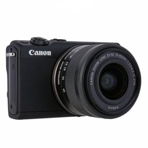 Fotoaparatas Canon EOS M100 BK M15-45 S Black