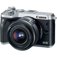 Fotoaparatas Canon EOS M6 KIT EF-M 15-45 IS STM black Skaitmeniniai fotoaparatai