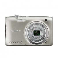 "Fotoaparatas Nikon Coolpix A100 Silver/20.1Mpixels,NIKKOR 5x,2.7"" LCD,ISO 80-1600,Support SD/SDHC/SDXC,Li-ion batt."