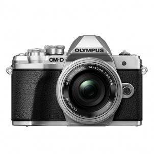 Fotoaparatas Olympus E-M10III Pancake Zoom Silver/Silver Skaitmeniniai fotoaparatai