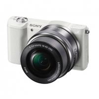 Fotoaparatas Sony A5100 White with 16-50mm lens Digitālās slr fotokameras