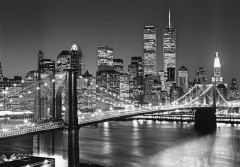 114/138 BROKLYN BRIDGE/MANHATTAN SKYL 3,66x2,54 m, 8 dalių fototapetas Photo wallpaper