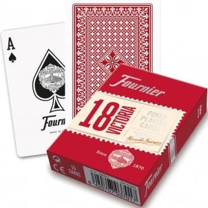 Fournier Victoria 18 pokerio kortos (Raudona)