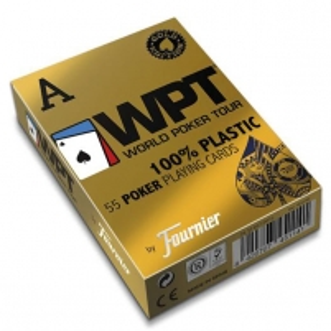 Fournier WPT Gold Edition pokerio kortos (Mėlynos)