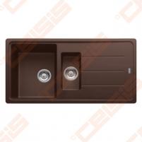 Fragranit universali pagal įstatymo puses plautuvė FRANKE Basis BFG651 su ventiliu ir indu, šokolado spalvos