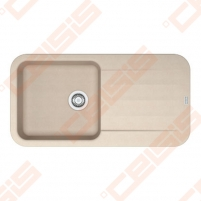 Fragranit universali pagal įstatymo puses plautuvė FRANKE Pebel PBG611-97 su ekscentriniu ventiliu ir indu, biežinės spalvos